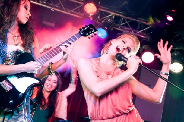 Girl Pop Group Performing